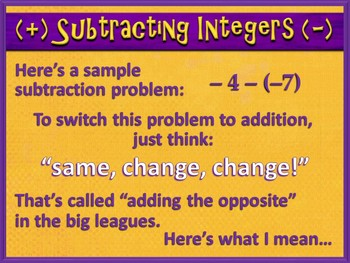 Adding and Subtracting Integers Made Easy (PowerPoint Only)