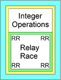 Integers - Integer Operations RELAY RACE Game (8 rounds of 9 problems)