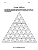Adding Integers Race to the Top Pyramid Worksheet