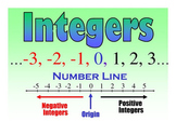 Integers (Addition, Subtraction)