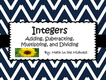 Integers - Addition, Subtraction, Multiplication, and Division