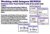 Integers Addition Subtraction Task Cards Using 2 Color Chips 6-set BUNDLE
