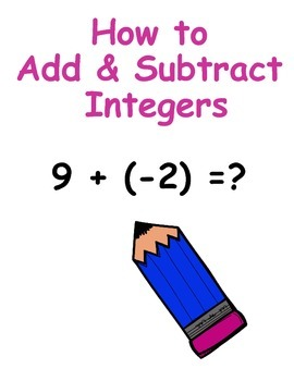 Adding & Subtracting Integers Visual Desk Aids How To Add and Subtract Integers