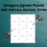 Add, Subtract, Multiply and Divide Integers: All Operations Puzzle