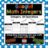 Integers All Operations Using Google Drive