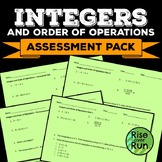 Integer Operations, Quizzes, Test, Worksheets