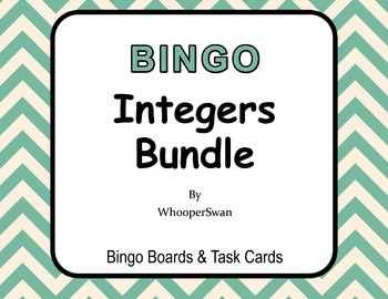 Integers - BINGO and Task Cards Bundle