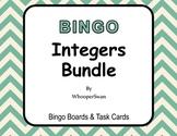 Integers - BINGO and Task Cards Bundle
