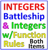 Integers Battleship PLUS Integers with Function Rules (Both Items)