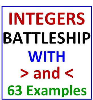 Integers Battleship with Greater Than Less Than