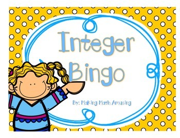 Integers Bingo