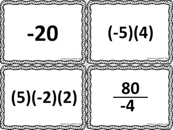 Adding and Subtracting Integers & Multiplying and Dividing Integers Bundle