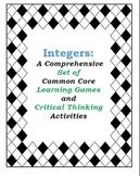 Integers Bundle: Developing conceptual understanding with Games and Activities