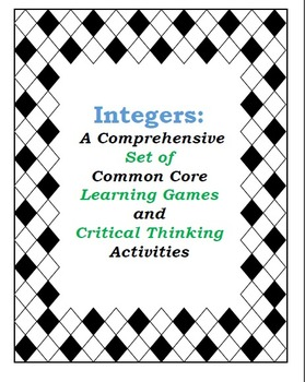 Integers Bundle: Developing conceptual understanding with Games and Activities