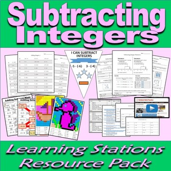 Integers Bundle - Learning Stations Resource Packs