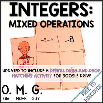 Integers (Mixed Operations) Card Game