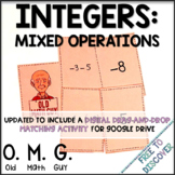Integers Card Game (Mixed Operations)