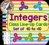 Integers Class Line Up Cards Ordering Integer Real World Negatives Positives