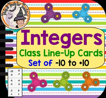 Integers Class Line Up Cards Ordering Real World Negatives Positives Activity