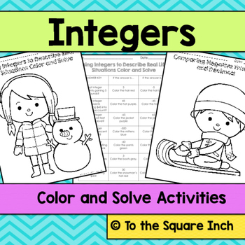 Integers Color and Solve