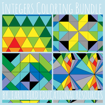 Integers Coloring Activity Bundle