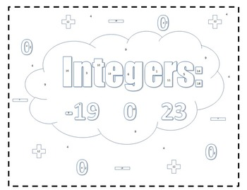 Integers: Coloring Sheet 6NSC5