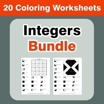 Integers Coloring Worksheets Bundle