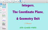 Integers, Coordinate Plane, and Geometry Unit