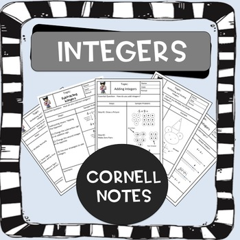 Integers Cornell Notes