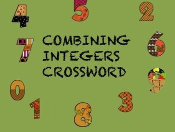 Integers Crossword
