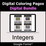 Integers - Digital Coloring Pages Bundle | Google Forms