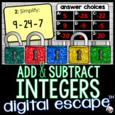 Integers Digital Math Escape Room