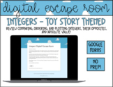 Integers *Digital* Escape Room   Toy Story Theme