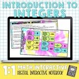 Integers Digital Interactive Math Notebook