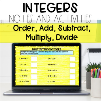 Integers Digital Interactive with Google Drive