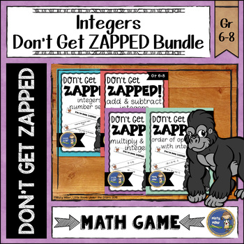 Integers Don't Get ZAPPED Math Game Bundle