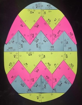 Integers (Easter Egg Shaped Puzzle)