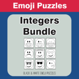 Integers - Emoji Picture Puzzles Bundle
