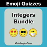 Integers Emoji Quiz Bundle