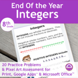 Integers End of Year Activities