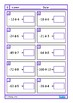 Integers Equations  Worksheets & Clip Cards, Autism Middle School Math