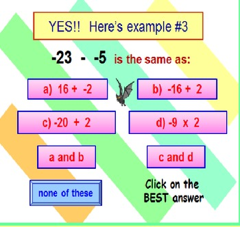 Integers FREE PowerPoint Fun Quiz PREVIEW