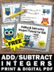 FREE Adding and Subtracting Integers Worksheets & Video