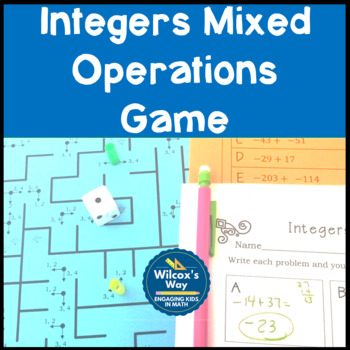 Integers Math Game Maze Madness