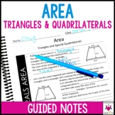 Area Triangles and Quadrilaterals Guided Notes - Area Notes