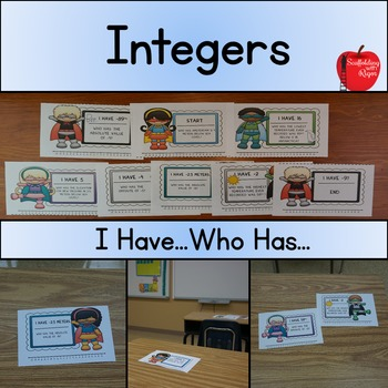 Integers...I Have Who Has