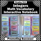 Integers Interactive Notebook, 6th Grade Math Review