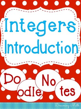 Integers Introduction Doodle Notes
