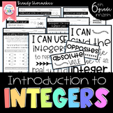Integers Introduction Sixth Grade Math
