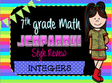 Integers Jeopardy Review Game! Middle School Math
